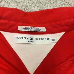 Tommy Hilfiger 1x Red Sleeveless Dress